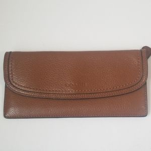 COACH Slim Pebble Grain Leather Envelope Wallet